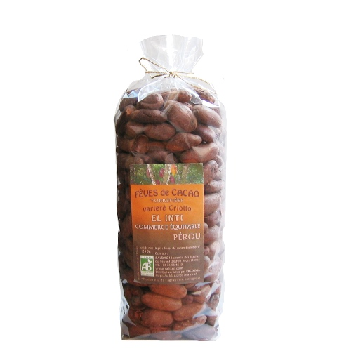 Fèves de cacao crues bio 250g